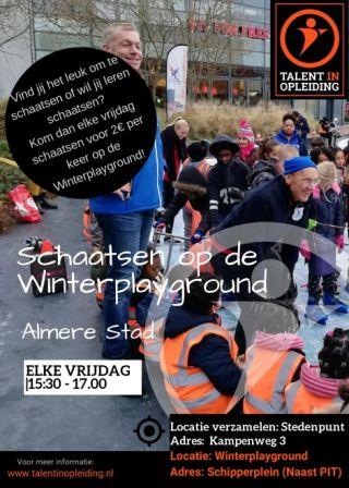 Schaatsen op de Winterplayground